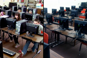 Before & After: Replacing PCs with L300 thin clients saves money, resources while reducing power usage and desk space.